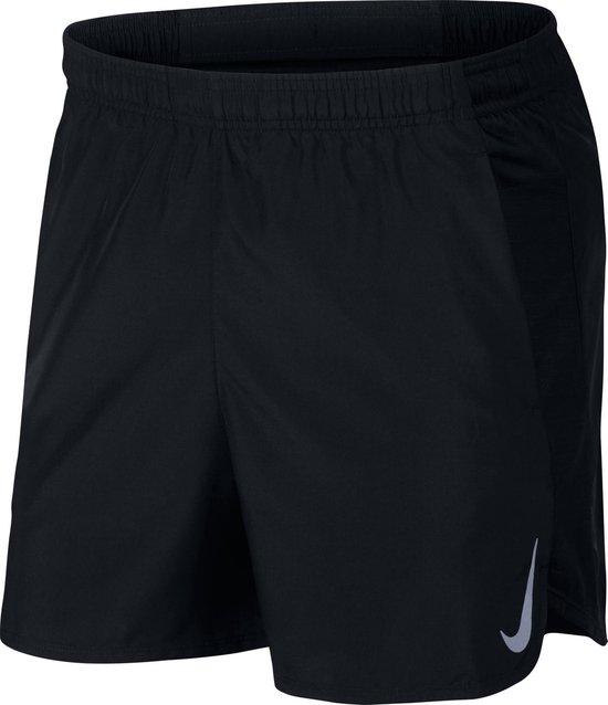 Nike Challenger Short 5In Sportbroek Heren - Black/Reflective Silv - Maat L