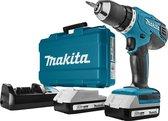 Makita DF457DWE Accuboormachine - 18V Li-ion - incl. 2 accu's - incl. koffer