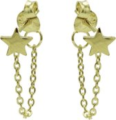 Karma oorbel Chain Star Silver Goldplated-M1857