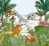 Kids@Home   jungle dieren   fotobehang 300x280cm