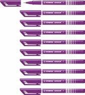 STABILO SENSOR Fineliner 0,3 mm Lila - Doos 10 stuks