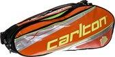 Carlton KINESIS TOUR 2COMP RKT BAG Oranje/zilver/zwart - Badmintontas