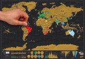 Luckies Kras Wereldkaart - Scratch Map Deluxe - Reiseditie