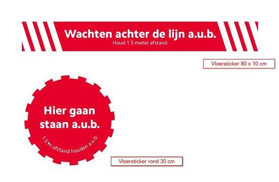 Sticker preventief - hou voldoende afstand - 4 stickers pakket - vloersticker - antislip - COVID-19 - Corona