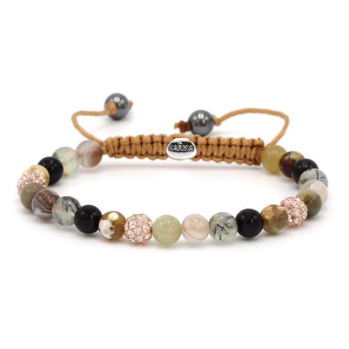 Karma Armband 83470 Spiral Imagination XS (Rose Crystal)