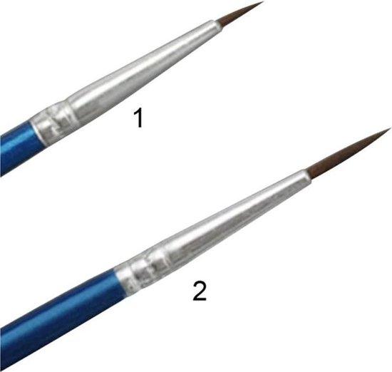 DW4Trading® Textielverf tie dye set 12 kleuren met 2 penselen