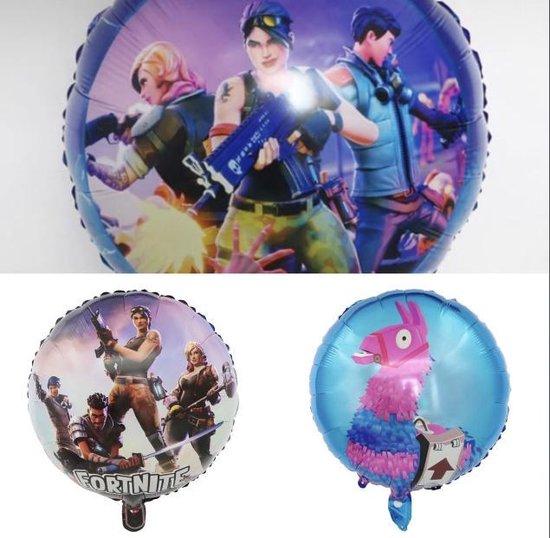 Fortnite set 3 stuks folie ballonnen