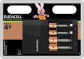 Duracell Batterijlader – Laadt op in 4 uur, inclusief 2 AA en 2 AAA batterijen