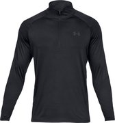 Under Armour Tech 2.0 1/2 Zip Heren Sport Shirt - Charcoal - Maat XXL