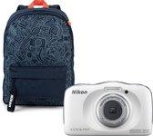 Nikon Coolpix W150 - Wit + Rugzak