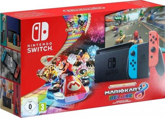 Nintendo Switch Console - Blauw/Rood - Nieuw Model + Mario Kart