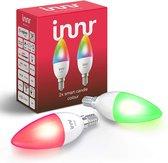 Innr slimme lampen E14 color - werkt met Philips Hue* - Zigbee smart LED - 2 pack