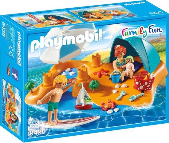 PLAYMOBIL Family Fun Familie aan het strand - 9425