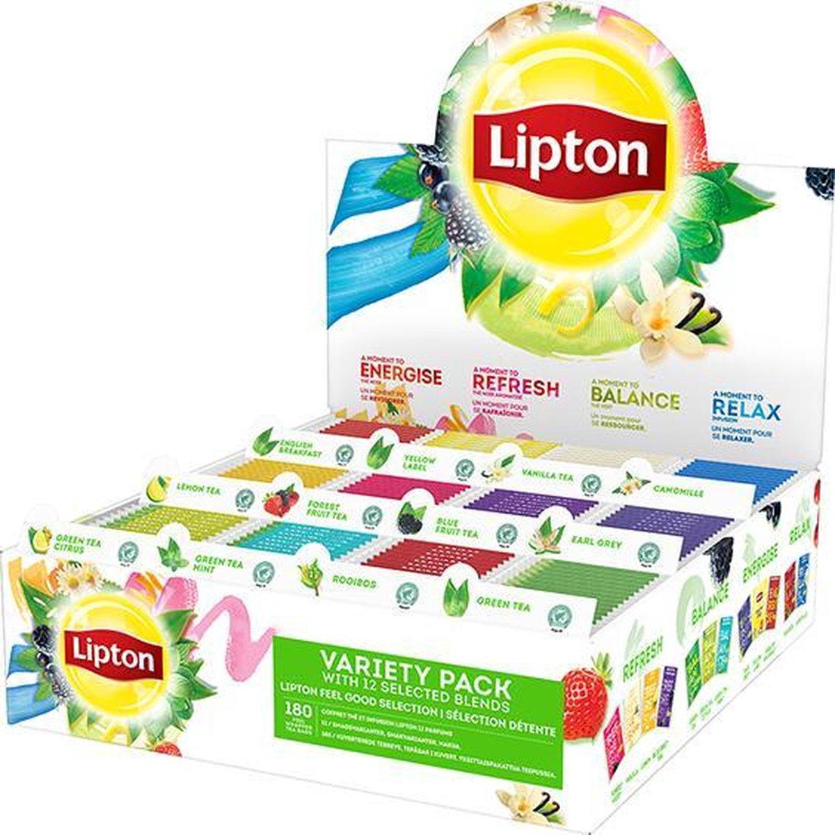 Lipton Feel Good Selection Thee Assortimentsdoos - 12 x 15 zakjes