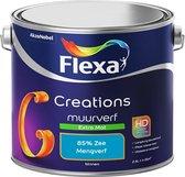 Flexa Creations Muurverf - Extra Mat - Mengkleuren Collectie - 85% Zee - 2,5 liter