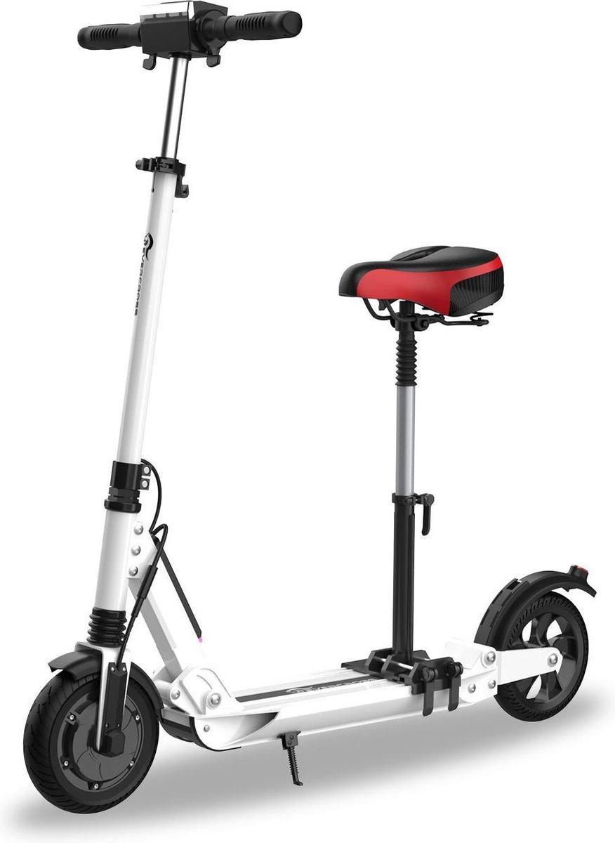 "Evercross Opvouwbare Elektrische Step E-scooter   7.8Ah   250W   8"" - Wit + Zadel"