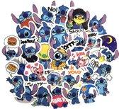 45 Stitch stickers ( Lilo & Stitch ) 5x5 cm voor Agenda laptop  skateboard fiets etc.