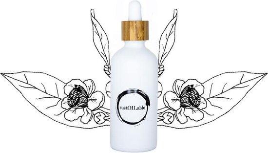 Camellia olie - glazen pipet flesje 100ml (navulbaar en plasticvrij verpakt)