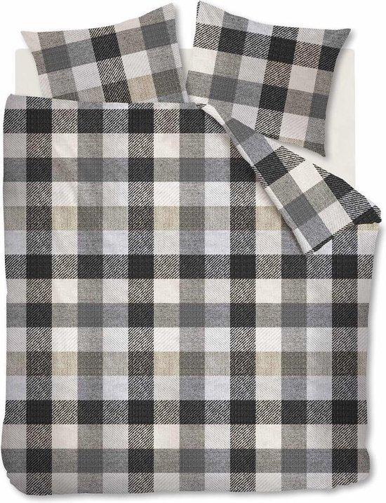 Beddinghouse Dekbedovertrek Flanel Beckett Grey Lits-jumeaux