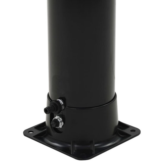 vidaXL Solar douche 40 L 196 cm zwart