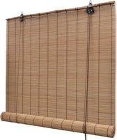 Rolgordijn Bamboe - 150x220 cm - Bruin