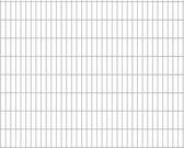 vidaXL Dubbelstaafmatten 2008 x 1630mm 22m Zilver 11 stuks