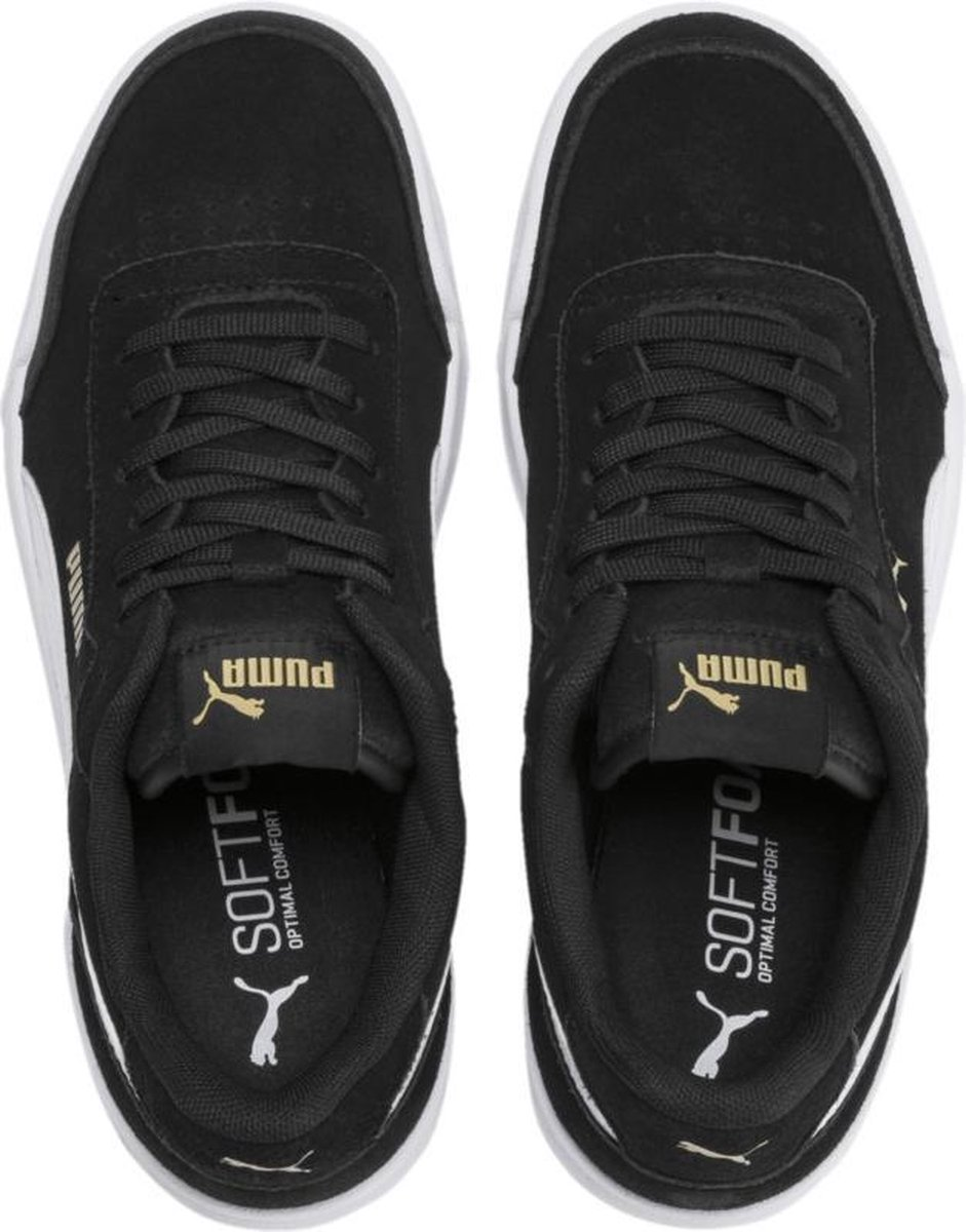 PUMA Caracal SD Jr Sneakers Kinderen - Puma Black-Puma White-Puma Team Gold  - Maat 39