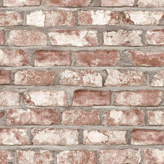 Dutch Wallcoverings vliesbehang baksteen - beige