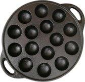 Krumble Poffertjespan gietijzer / Diameter van Ø22cm / Geschikt voor 15 poffertjes - Zwart