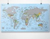 CabinMax Wereld Kraskaart - Scratch Map - Kras Je Reislanden - Bucket List Krasmap