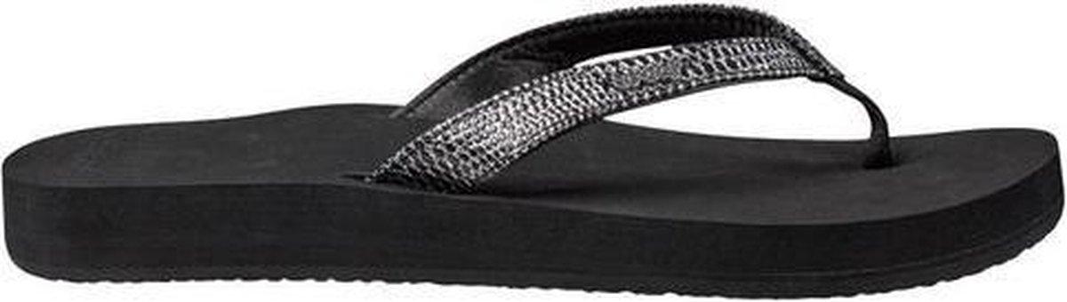 Reef Star Cushion Sassy Dames Slippers - Black/Silver - Maat 40