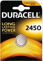 Duracell CR2450 Lithium knoopcel batterij - 3V - 1 stuk