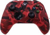 Xbox One Controller Skin | Controller hoesje + Thump grips | Red camo