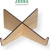 Jooba Laptop standaard - Laptopstandaard - Laptop stand hout - Laptop houder - Universeel 13,15,17 inch - Eikenhout - Laptop steun  - Vaderdag kados - Dutch design