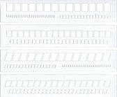 Set van 4 Letter Guides  Sjablonen gemaakt van Transparant Kunststof  + A4 Schrijf/Kalligrafeer Blok