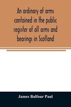 An ordinary of arms contained in the public register of all arms and bearings in Scotland