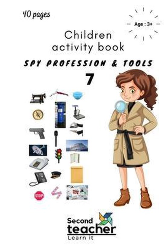 Spy Profession and Tools;children Activity Book-7
