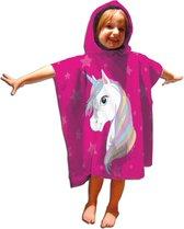 Unicorn Poncho Eenhoorn Junior 55 X 110 Cm Katoen Roze