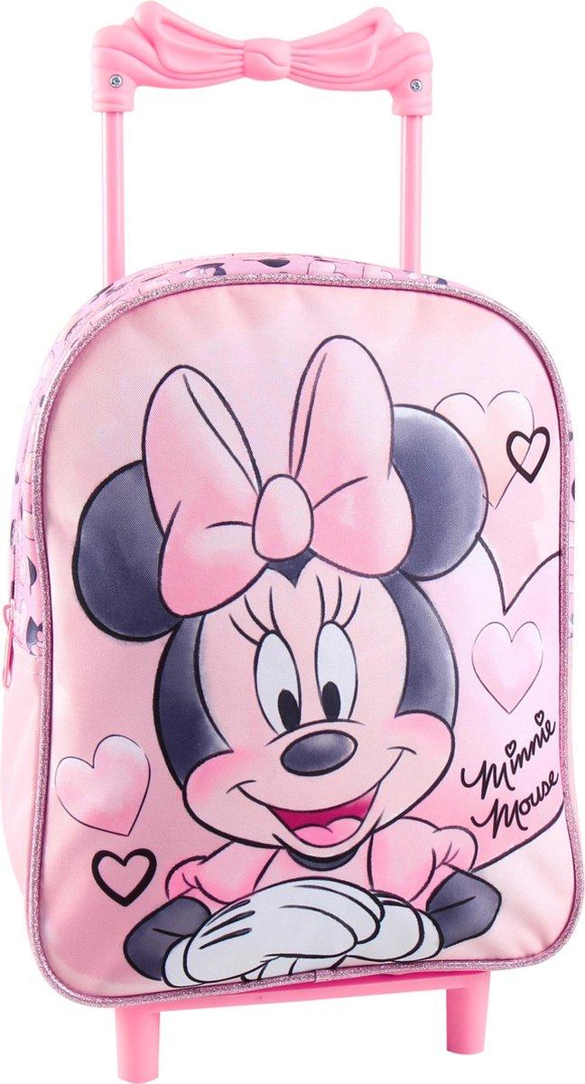 MINNIE MOUSE Trolley Koffer Logeren Vakantie Roze Lief kopen