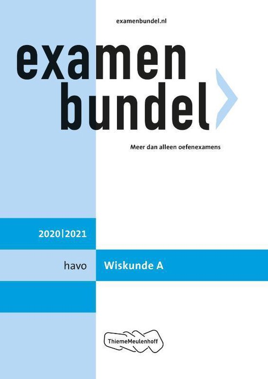Boek cover Examenbundel havo Wiskunde A 2020/2021 van  (Paperback)