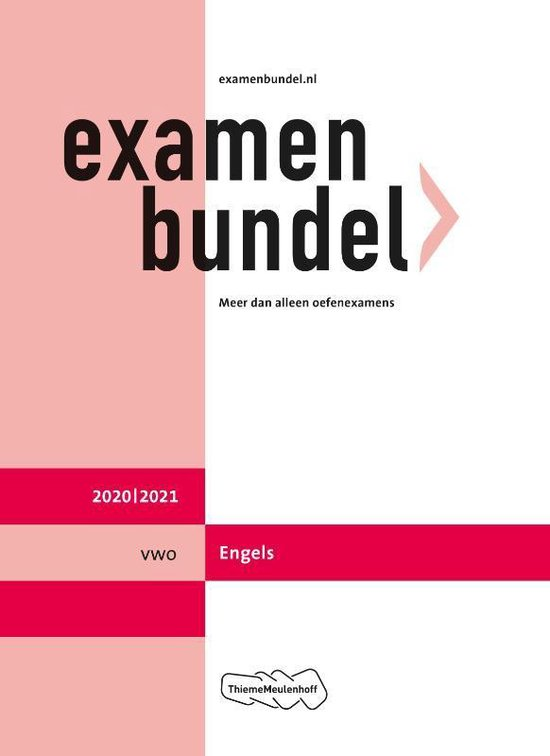 Boek cover Examenbundel vwo Engels 2020/2021 van  (Paperback)