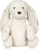Clayre & Eef | Decoratie hond 14*12*16 cm | Wit | Polyresin | Hond | 6PR2928