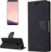 GOOSPERY CANVAS DAGBOEK voor Samsung Galaxy S8 + / G9550 canvas textuur horizontale flip lederen tas met kaartsleuven & portemonnee en houder (zwart)