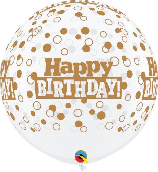 Megaballon Happy Birthday DC opdruk Goud (2st)