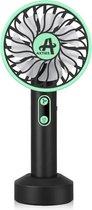 AXTIES 2-in-1 Draagbare Mini Ventilator met LED Lamp - USB Oplaadbaar 2000 mAh Batterij - 3 Snelheden & Lichtstanden - Draagbaar Kleine Tafelventilator - Mobiele Tafel Fan - Bureau Luchtkoeler Airco - Hand Waaier Lucht Koeler - Aircooler - Air Cooler