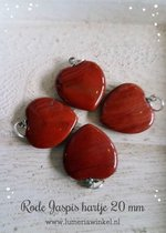 Rode jaspis harthanger 20 mm