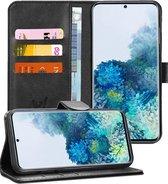 Samsung S20 Plus Hoesje - Samsung Galaxy S20 Plus Hoesje Book Case Leer Wallet - Zwart