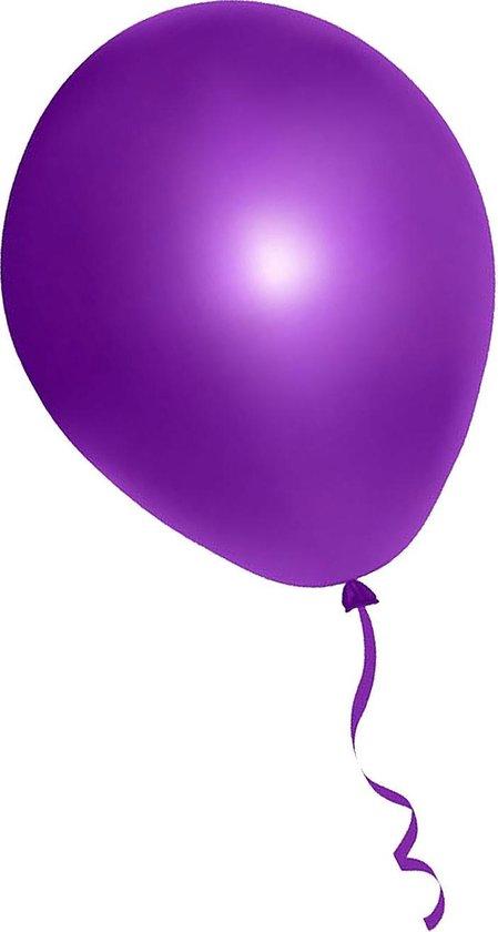 500 stuks paarse ballonnen - decoratie - latex - helium - feest - paars - ballon