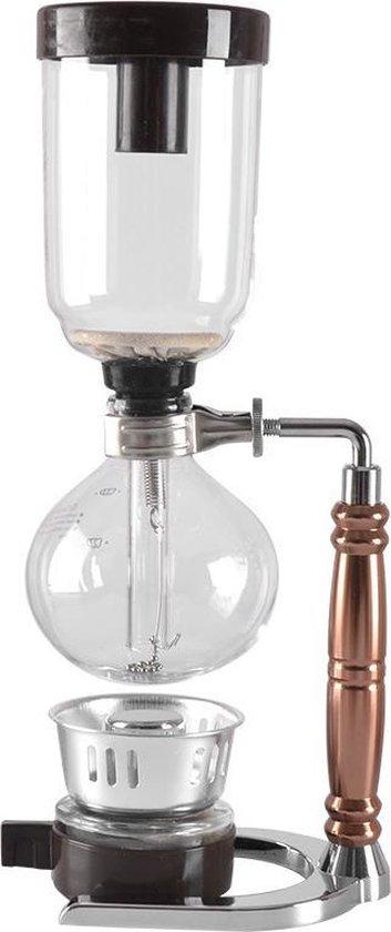 Syphon Coffee Maker, Japanse style Siphon koffiezet apparaat , Slow Koffie Zilver