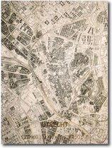 Stadskaart Utrecht 70x50cm | Plattegrond | Uniek | muurkaart | kaart | city map | kaart Utrecht in hout gegraveerd